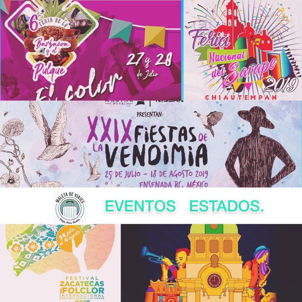 Estados, eventos, turismo, Maleta de Viajes, aventura, feria, Baja California, Hidalgo, Tlaxcala, Zacatecas