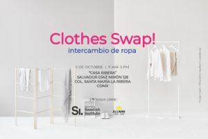 Clothes Swap, ropa, intercmabio, planeta, Maleta de Viajes, CDMX, turismo