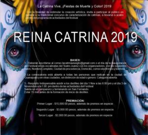 Inscríbete para ser la Reina Catrina 2019. Foto: FB @lacatrinavive