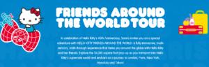Hello Kitty, exposición, notiviajeros, Maleta de Viajes, turismo, aventura, viajes, Nueva York, París, Honolulu, Los Ángeles