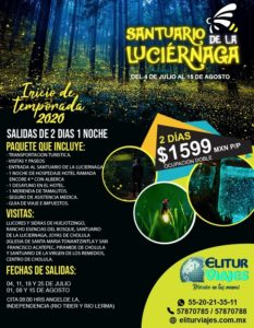 Maleta de Viajes, Hoteles, viajes, turismo, Estados, Puebla, luciérnagas, Elitur Viajes