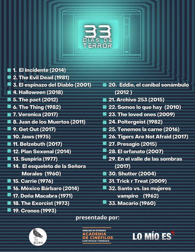 #33DíasDeTerror para revivir los clásicos