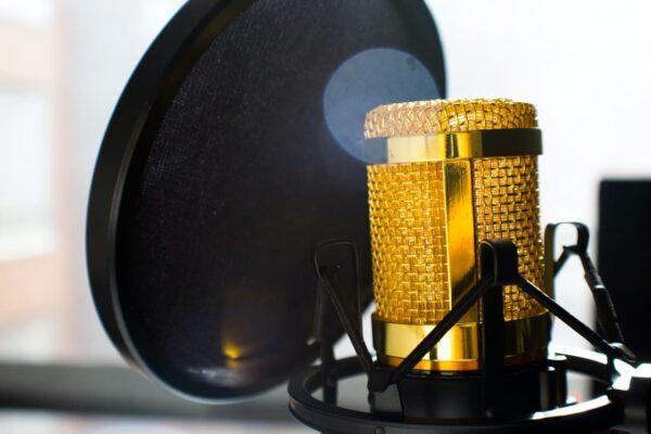 Micrófono usado generalmente usado en podcast-